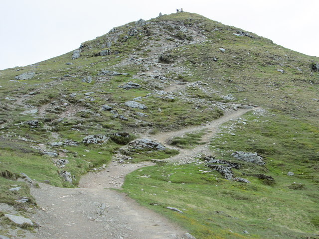 Path near the top of Ben Lawers