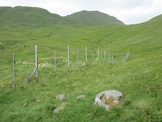 Fence bordering the Ben Lawers National Nature Reserve