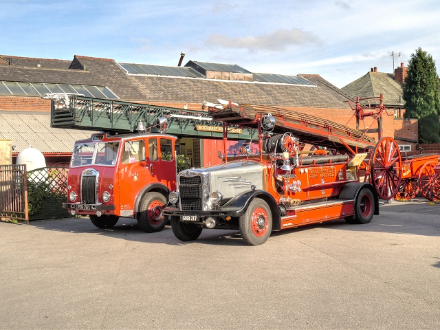 Old Fire Engines, Rochdale Fire Station Yard