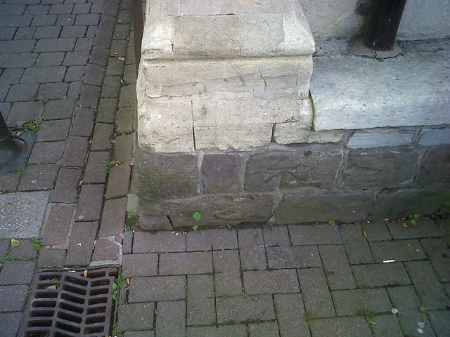 Ordnance Survey Benchmark and Bolt - Carmarthen, Guildhall