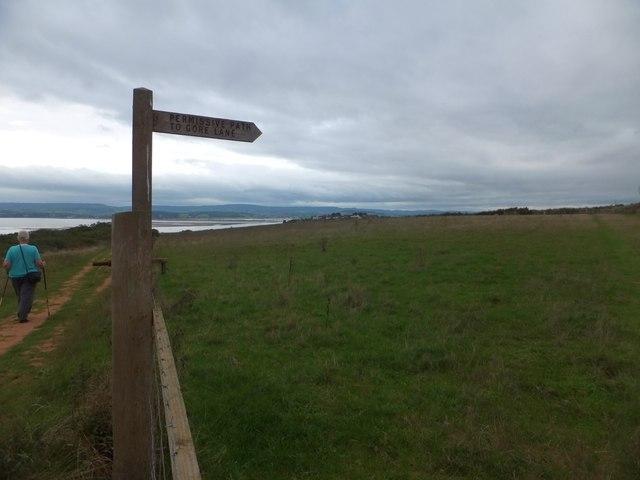 Sign for permissive path to Gore Lane