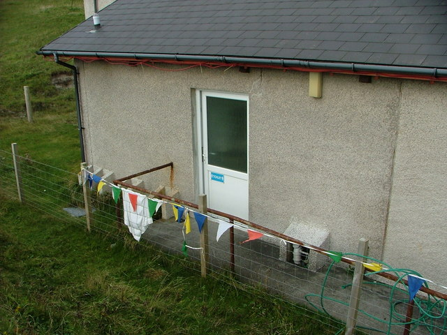 The public toilet facility on Vatersay