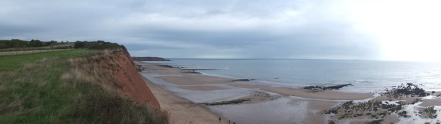 Panorama eastwards from Orcombe Point