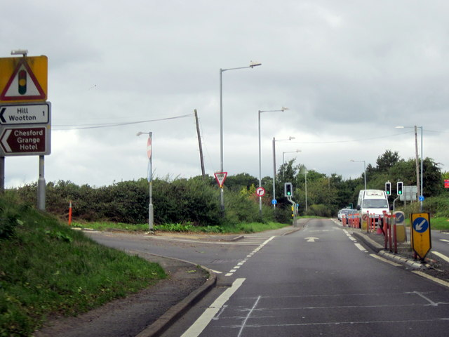 A452 Approaching Junction For Hill Wootton