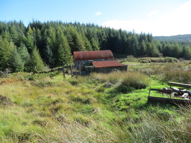 Disused farm building at Airigh Chreagach
