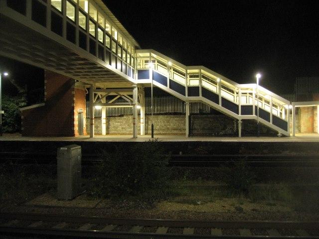 Modern day footbridge - Farnborough