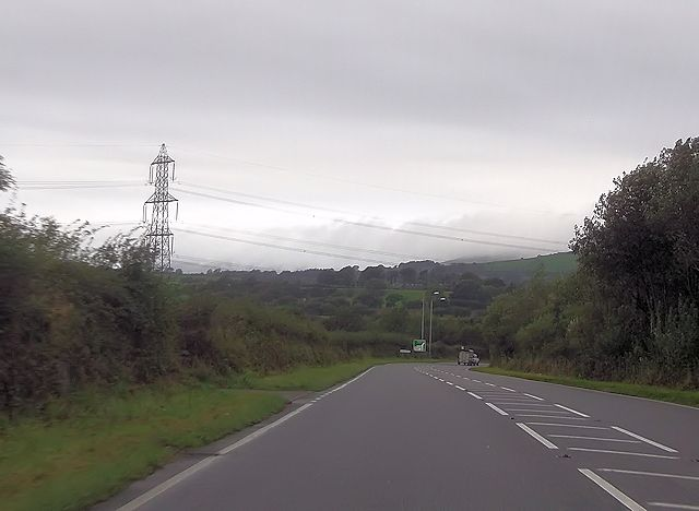 Approaching B4411 junction from A487