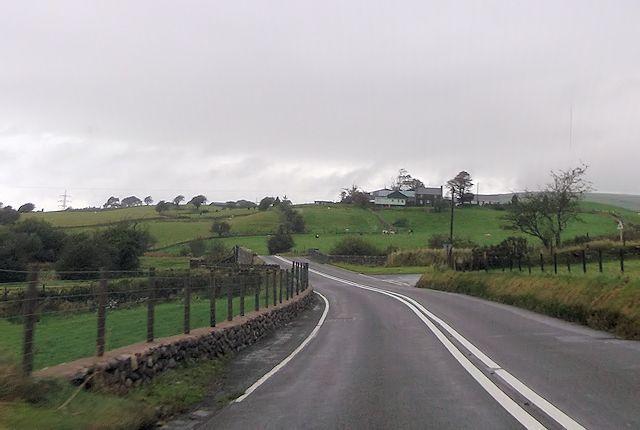 Road junction at Dafarn Faig