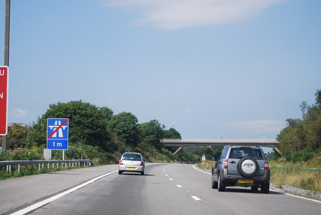 1 mile to the end of the M4