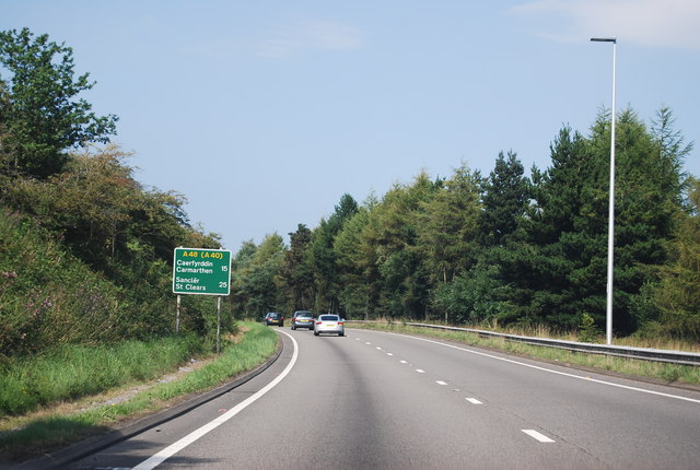 The A48 just after the M4