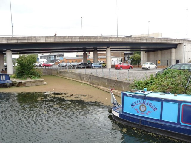Slipway under Brayford Way, Fossdyke south bank