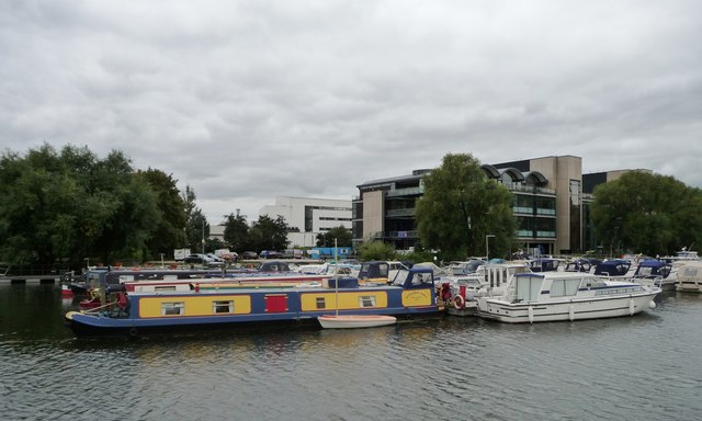 Boats moored on the south side of Brayford Pool