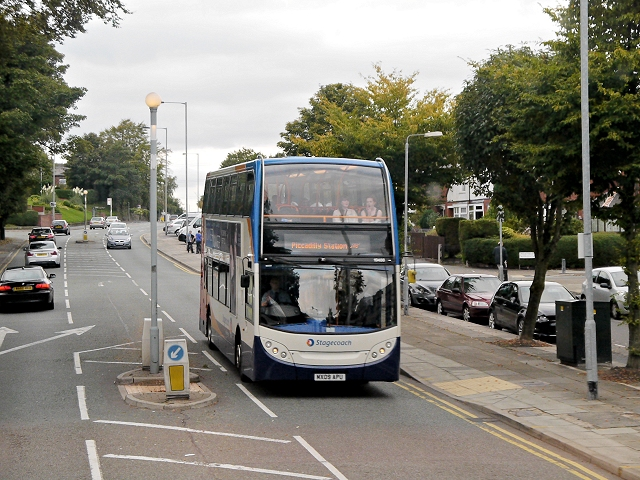 Bury Old Road, Metrolink Replacement Bus