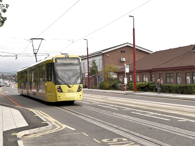 Tram on Ashton Road
