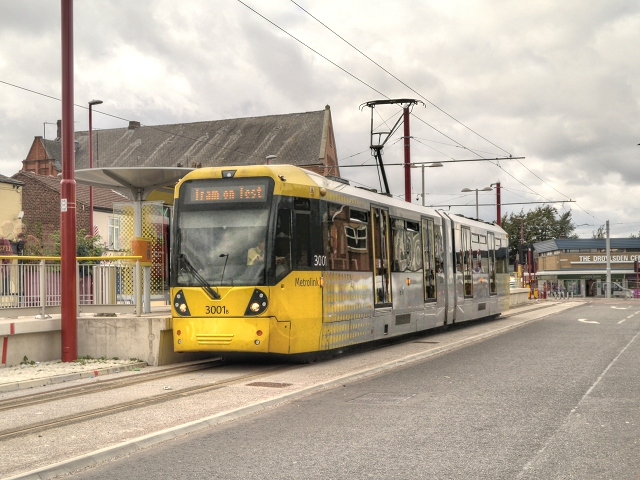 Tram on Test, Droylsden Tram Station
