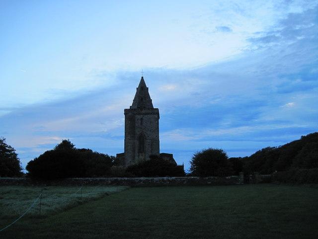 St  Oswald  Church  Lythe  at  daybreak