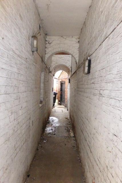 Passageway at the Bank