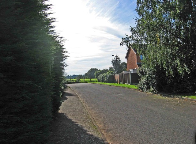Approaching the end of Turnstone Road, Spennells, Kidderminster