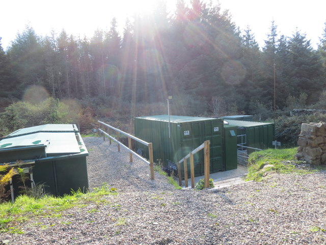 Water treatment works in the forest at Kilberry