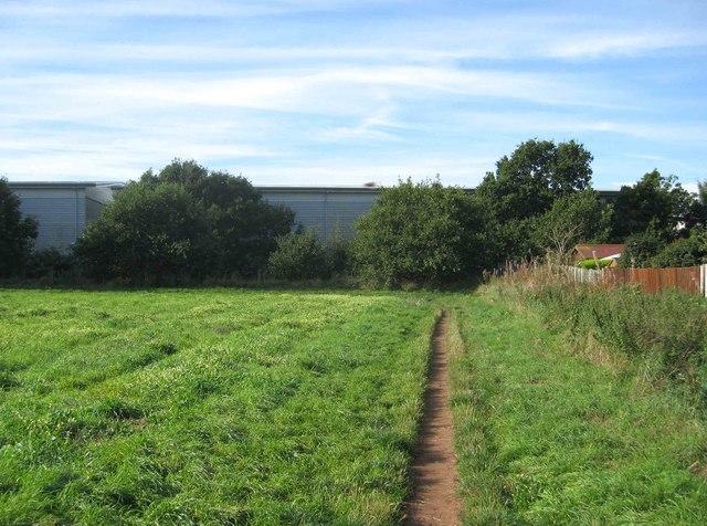 Corner of a field and bridleway, Spennells, Kidderminster