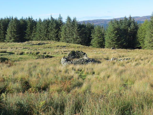 Remains of shielings at Sean- ghart