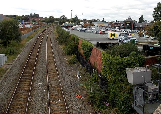 Railway west of Bridge Road Wellington