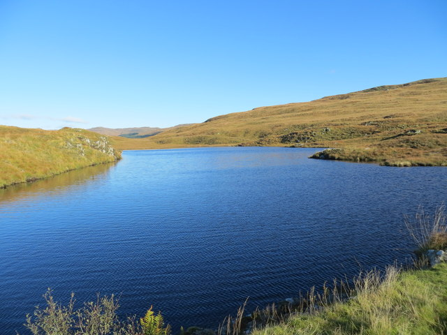 Small man-made reservoir on the moors above Ormsary