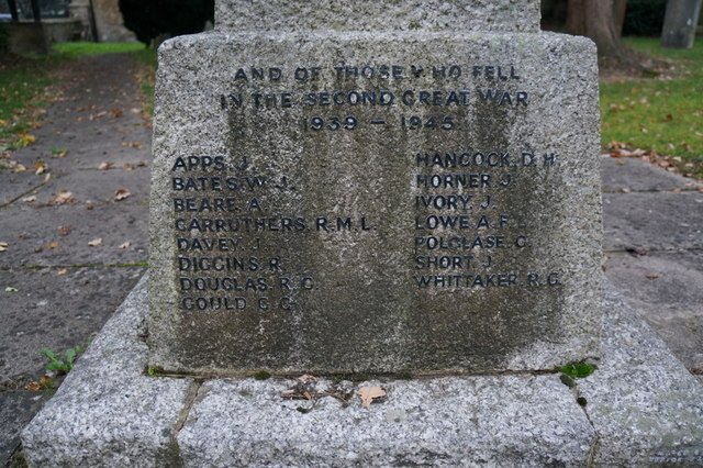 The war memorial  at Blindley Heath