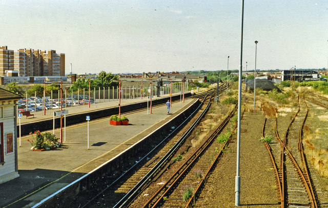 Hove station, view west 1996