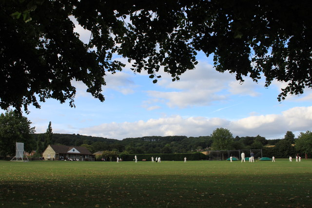 Match at Overbury cricket club in late August 2013