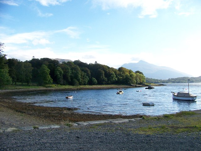 Looking east from the Pier at Ardchattan