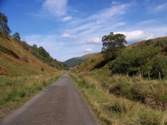 The B845 through Gleann Salach
