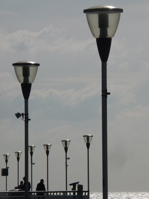 Bournemouth: pier lampposts
