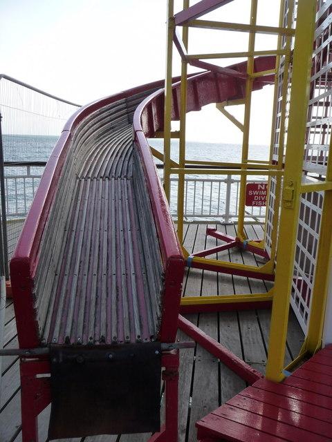 Bournemouth: bottom of a helter-skelter