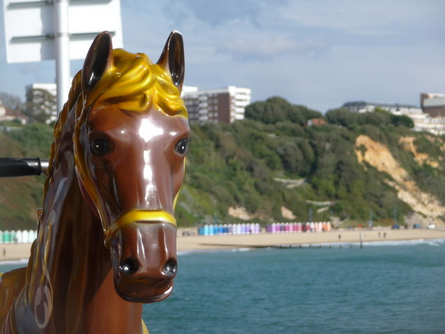 Bournemouth: merry-go-round horse on the pier