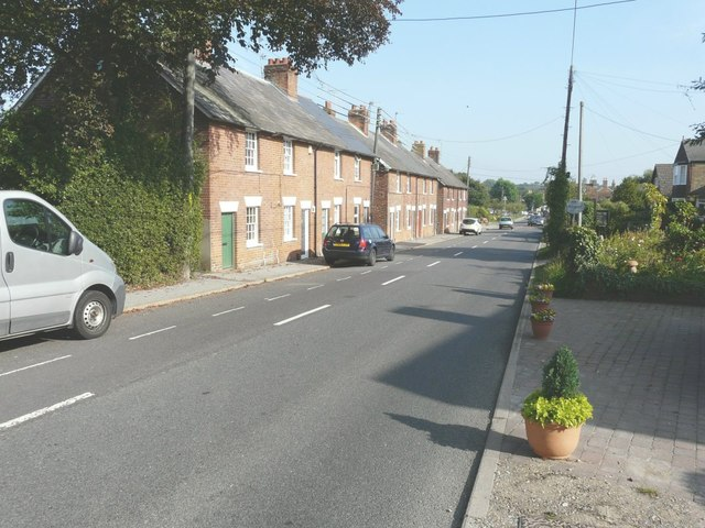 A row of cottages down The Hill
