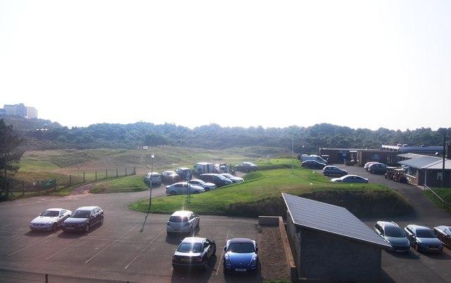 Car park, Tenby Golf Course