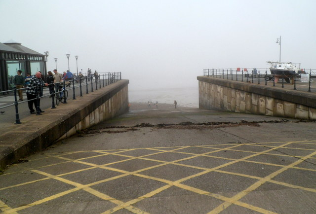 Slipway from The Mumbles into Swansea Bay