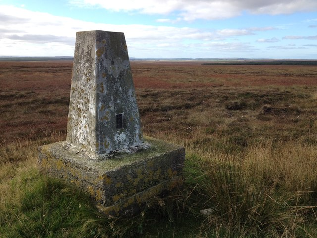 Trig point on Crow Hillock