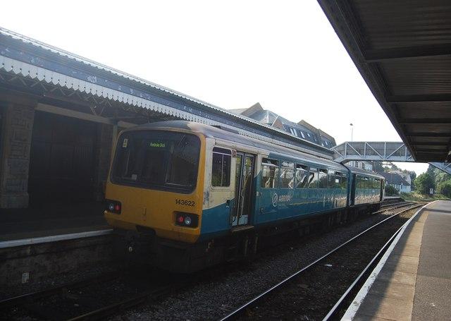 Pembroke Dock Train at Tenby Station