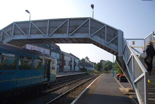 Footbridge, Tenby Station