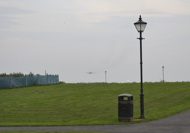 Transport Plane heading for Warton Airfield, viewed from Lytham Quays - 3
