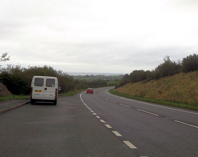 A487 north from lay by