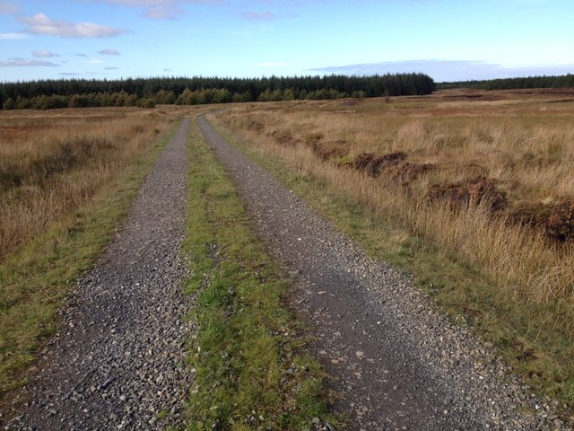 Gravel track to Stroupster