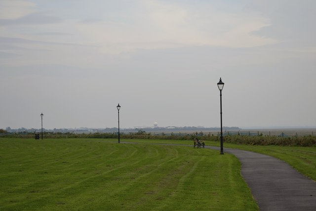 BAe's Warton Airfield viewed from Lytham Quays, Lytham