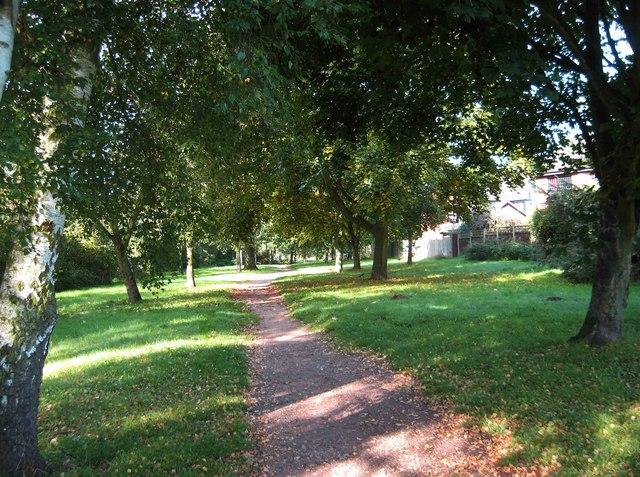 Path through open space, Spennells, Kidderminster