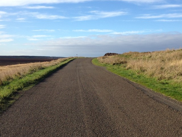 Minor road at Christan Hill