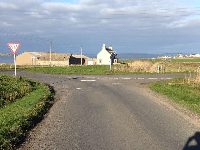 Road junction near Canisbay