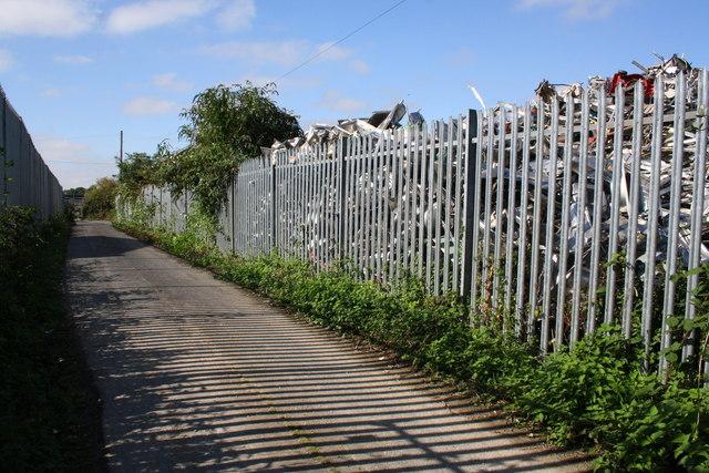 Track by scrap yard