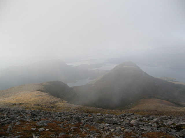Just above cloud level on Beinn Damh